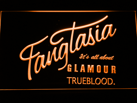 Image of True Blood Fangtasia LED Neon Sign - Orange - SafeSpecial