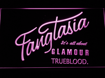True Blood Fangtasia LED Neon Sign - Purple - SafeSpecial