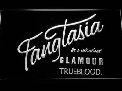 True Blood Fangtasia LED Neon Sign - White - SafeSpecial