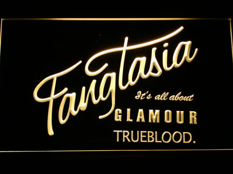 True Blood Fangtasia LED Neon Sign - Yellow - SafeSpecial