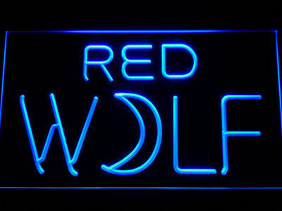 True Blood Red Wolf LED Neon Sign - Blue - SafeSpecial