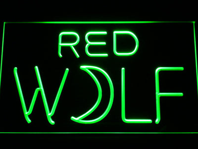 True Blood Red Wolf LED Neon Sign - Green - SafeSpecial
