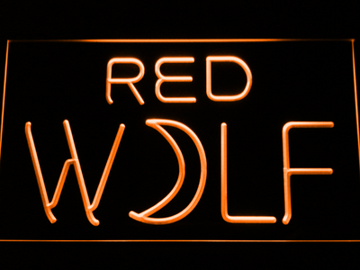 True Blood Red Wolf LED Neon Sign - Orange - SafeSpecial