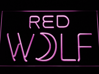 True Blood Red Wolf LED Neon Sign - Purple - SafeSpecial