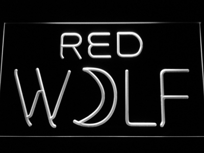 True Blood Red Wolf LED Neon Sign - White - SafeSpecial