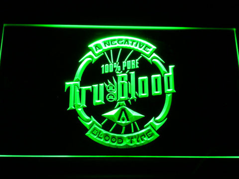 Image of True Blood Tru Blood Soda LED Neon Sign - Green - SafeSpecial
