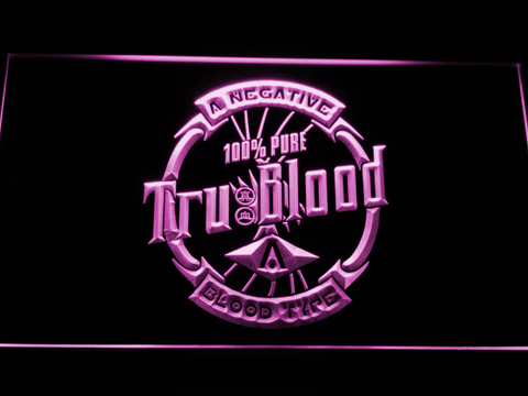 Image of True Blood Tru Blood Soda LED Neon Sign - Purple - SafeSpecial