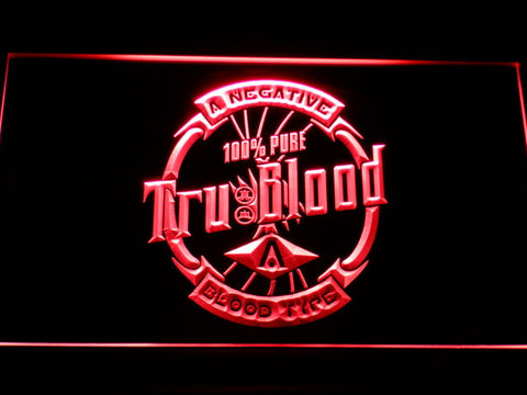 Image of True Blood Tru Blood Soda LED Neon Sign - Red - SafeSpecial