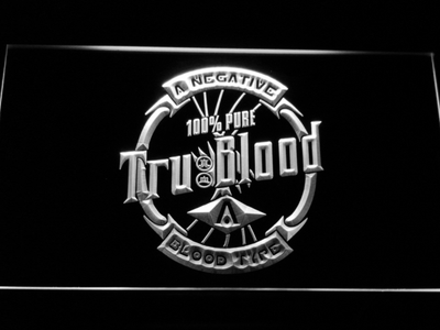 True Blood Tru Blood Soda LED Neon Sign - White - SafeSpecial