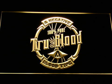 Image of True Blood Tru Blood Soda LED Neon Sign - Yellow - SafeSpecial