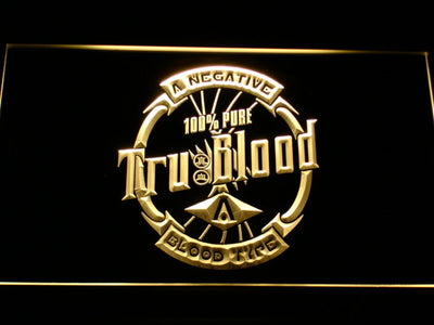 True Blood Tru Blood Soda LED Neon Sign - Yellow - SafeSpecial