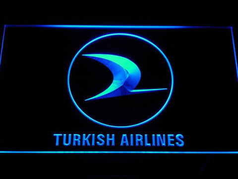 Turkish Airlines LED Neon Sign - Blue - SafeSpecial