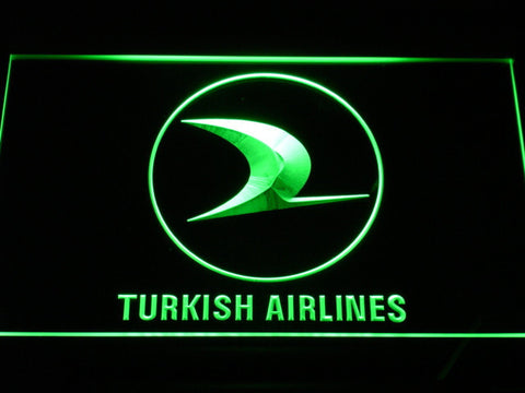 Turkish Airlines LED Neon Sign - Green - SafeSpecial