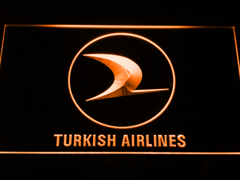 Turkish Airlines LED Neon Sign - Orange - SafeSpecial