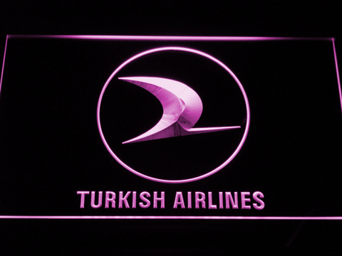 Turkish Airlines LED Neon Sign - Purple - SafeSpecial