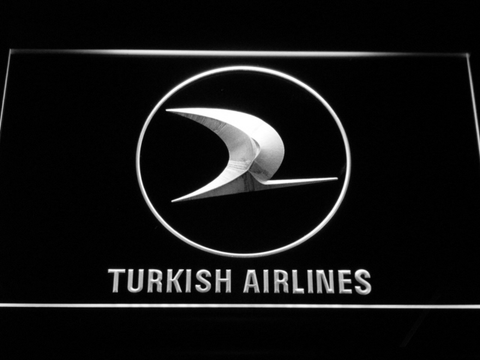Turkish Airlines LED Neon Sign - White - SafeSpecial