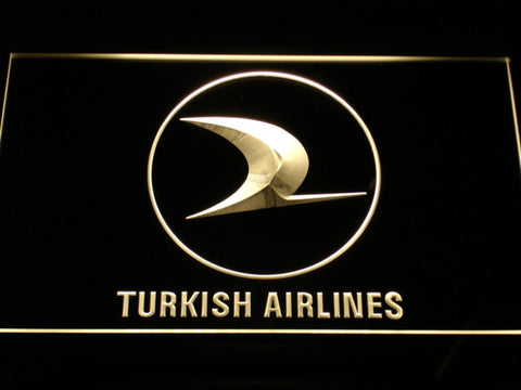 Turkish Airlines LED Neon Sign - Yellow - SafeSpecial