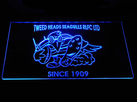 Tweed Heads Seagulls LED Neon Sign - Blue - SafeSpecial