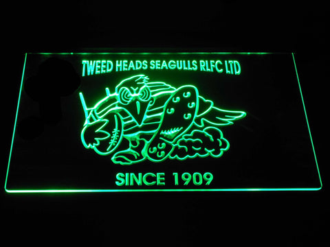 Tweed Heads Seagulls LED Neon Sign - Green - SafeSpecial