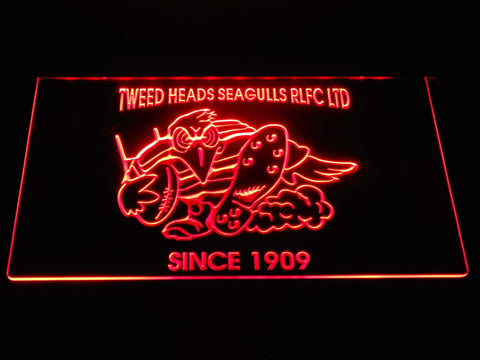 Tweed Heads Seagulls LED Neon Sign - Red - SafeSpecial