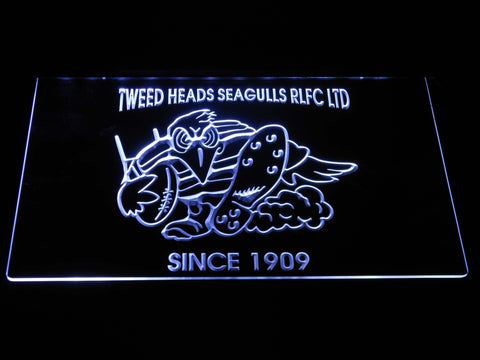 Tweed Heads Seagulls LED Neon Sign - White - SafeSpecial