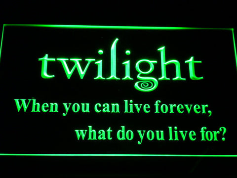 Image of Twilight LED Neon Sign - Green - SafeSpecial