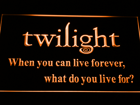 Image of Twilight LED Neon Sign - Orange - SafeSpecial