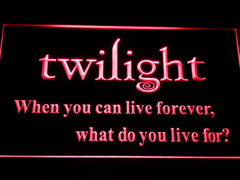 Image of Twilight LED Neon Sign - Red - SafeSpecial