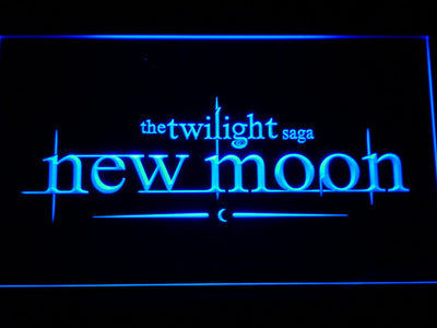 Twilight New Moon LED Neon Sign - Blue - SafeSpecial
