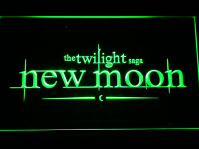 Twilight New Moon LED Neon Sign - Green - SafeSpecial
