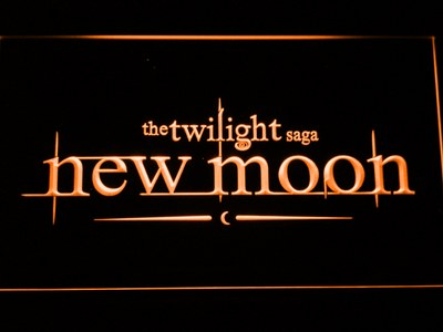 Twilight New Moon LED Neon Sign - Orange - SafeSpecial