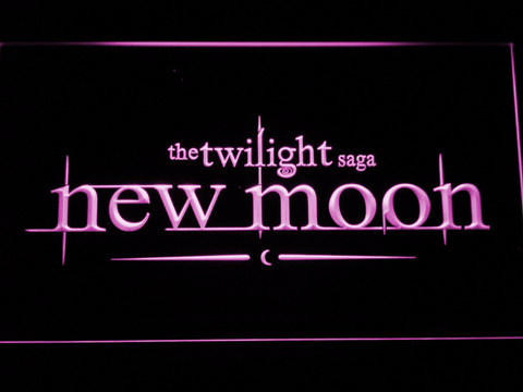 Image of Twilight New Moon LED Neon Sign - Purple - SafeSpecial