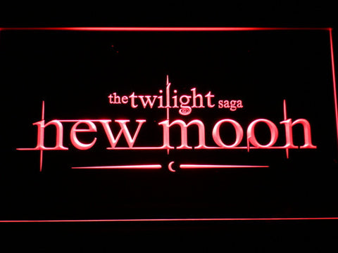 Image of Twilight New Moon LED Neon Sign - Red - SafeSpecial