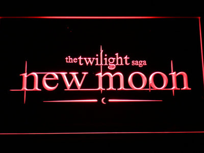 Twilight New Moon LED Neon Sign - Red - SafeSpecial