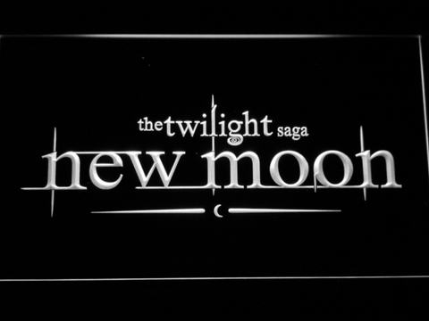 Image of Twilight New Moon LED Neon Sign - White - SafeSpecial