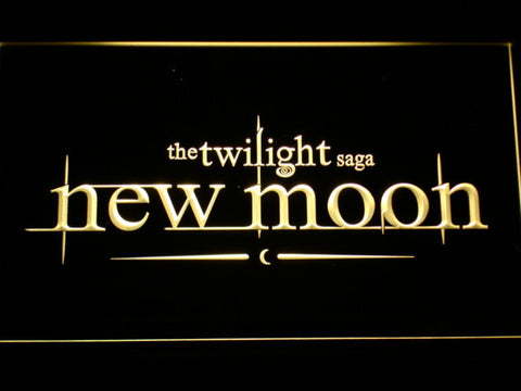 Image of Twilight New Moon LED Neon Sign - Yellow - SafeSpecial