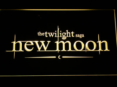 Twilight New Moon LED Neon Sign - Yellow - SafeSpecial