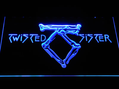 Twisted Sister LED Neon Sign - Blue - SafeSpecial