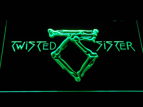Twisted Sister LED Neon Sign - Green - SafeSpecial