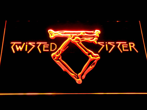 Twisted Sister LED Neon Sign - Orange - SafeSpecial