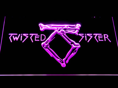 Twisted Sister LED Neon Sign - Purple - SafeSpecial
