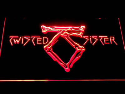 Twisted Sister LED Neon Sign - Red - SafeSpecial