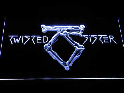 Twisted Sister LED Neon Sign - White - SafeSpecial