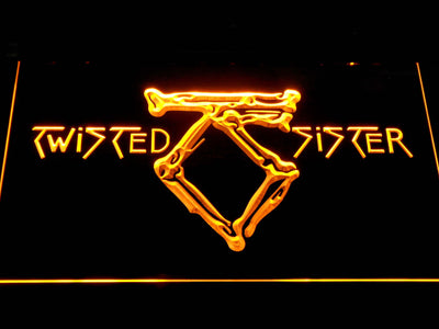 Twisted Sister LED Neon Sign - Yellow - SafeSpecial