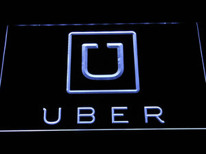 Uber LED Neon Sign - White - SafeSpecial