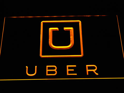 Image of Uber LED Neon Sign - Yellow - SafeSpecial
