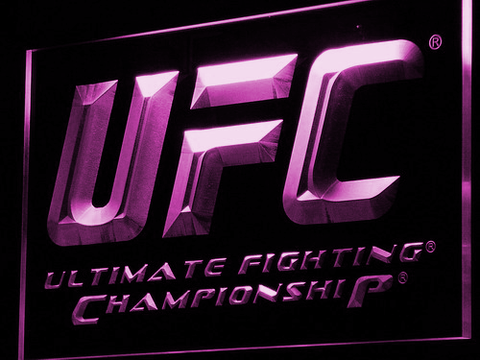 UFC LED Neon Sign - Purple - SafeSpecial