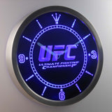 UFC Ultimate Fight Championship LED Neon Wall Clock - Blue - SafeSpecial