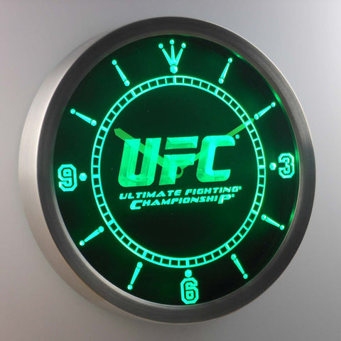 UFC Ultimate Fight Championship LED Neon Wall Clock - Green - SafeSpecial