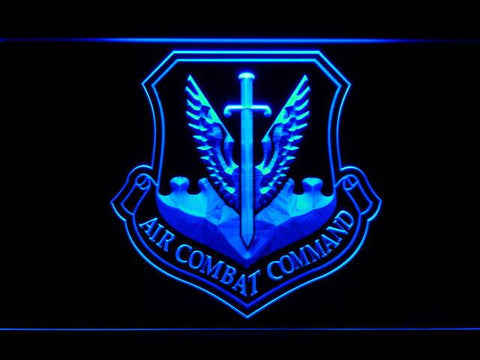 Image of US Air Force Air Combat Command LED Neon Sign - Blue - SafeSpecial